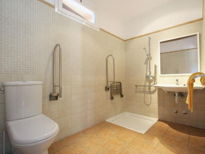 bathroom adapted for wheelchair users