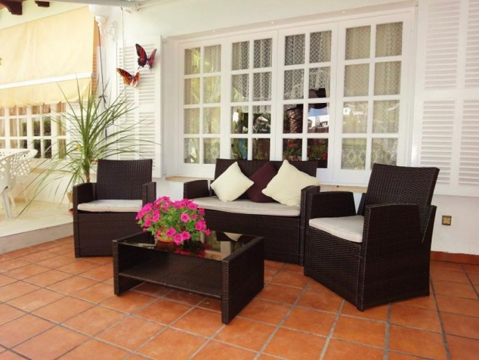 Cosy sitting corner on the terrace